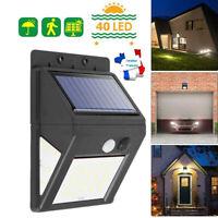 60LED Lampe Solaire PIR Capteur Mouvement Séparable Jardin Extérieur Eclairage