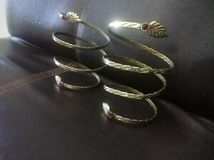 Tribal kuchi hand made ring bracelet spiral bracelet