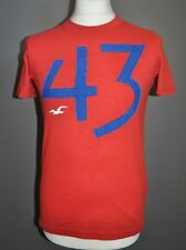 HOLLISTER T- Shirt Top Mens Size S Small RED