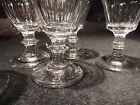 6 petits verres soufflés a côtes plates de style Louis Philippe XIX