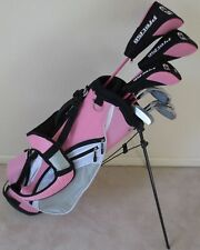 NEW Ladies Petite Golf Set Driver Wood Hybrid Irons Putter Bag Womens Pink Color