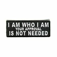 I Am Who I Am Your Approval Is Not Needed Iron On Patch Rockabilly Biker Gift Ap