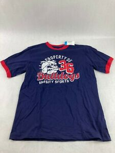 The Children's Place Blue Football Shirt Champions and Bulldogs Size Large