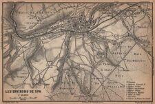 SPA ENVIRONS. Creppe. Belgium carte. BAEDEKER 1905 old antique map plan chart