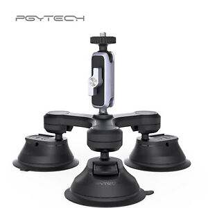 PGYTECH Triple Cup Camera Suction Mount Car Window Mount For DSLR Camera Gopro