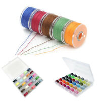 25PCS Sewing Machine Bobbins Thread Spools Case With Threads for Sewing Machine