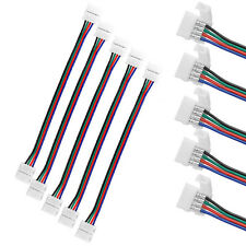 10PCS 10mm 4 Pin two Connector with Cable For SMD LED 5050 RGB Strip Light US