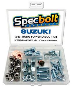 Suzuki RM250 Top End Engine Bolt Kit RM 250 (Zinc)