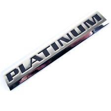 CHROME/BLACK METAL PLATINUM OEM REPLACEMENT EMBLEM BADGE FOR TRUNK HOOD DOOR