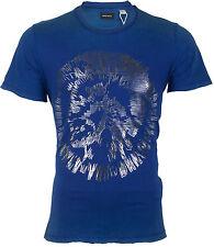 DIESEL Mens S/S T-Shirt MIREY Indian Head ROYAL BLUE Designer Jeans M-XL $98