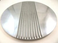 """14"""" Center Finned Retro Polished Aluminum Air Cleaner Lid Only Chevy Ford Mopar"""