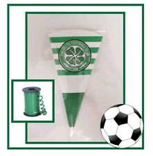 10 Celtic FOOTBALL DIY/party bags/sweet cones/kit/supplies