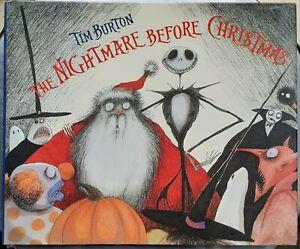 Tim Burton THE NIGHTMARE BEFORE CHRISTMAS Disney Press Hardback 1993