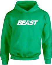 Beast Slogan Printed Hoodie for Kids Girls Boys Childrens Casual Hoody Tops