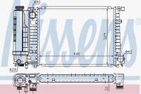Nissens 60735A Radiator fit BMW 316I-318I AC 88-