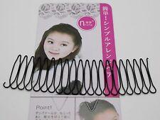 8 Pcs Black Fringe Invisible Hair Clip Comb Hairpin Bobby Pin Headband 11CM