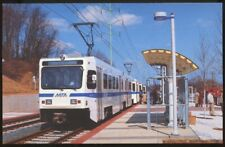 Baltimore MTA Light Rail Cars 5021, 5031 at N. Linthicum Station Maryland Train