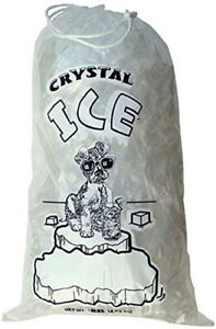 500 bag Commercial CRYSTAL 8 LB LBS Plastic Ice Bags High Qualit With Drawstring