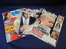 Lot 3 People Magazine PRINCE GEORGE Turns 1 Baptism WILL PRINCESS KATE Royals