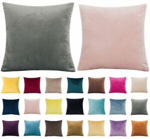 "16"" 18"" 20"" 22"" 24"" Large Velvet Plain Cushion Cover Pillow Case Home Sofa Decor"