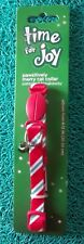 """Petco""""Time for Joy""""Pawsitively Merry Cat Collar Candy Cane Stripe Bell Holiday"""