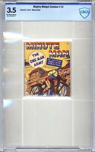 Mighty Midget Comics #12 - CBCS  3.5 (VG-) 1943  Golden Age - Rare