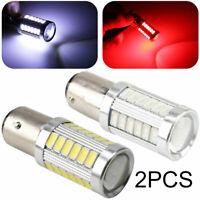 2Pcs 1157 BAY15D Car Tail Stop Brake Light Bulbs Lamp Light 5730/5630 33 SMD LED