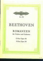 Beethoven ~  Romanzen für Violine und Orchester Op. 40; Op. 50 - Studienpartitur