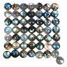 50 Pcs Natural Labradorite 13mm Round Cabochon Loose Gemstones Wholesale Lot
