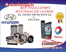 KIT FILTRI TAGLIANDO HYUNDAI I20 1.6 CRDI 94KW DAL 12/08 + 4L OLIO TOTAL 5W30