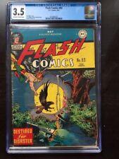FLASH COMICS #83 CGC VG- 3.5; OW-W; Hawkman cover! scarce!