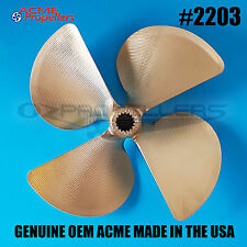 2203 ACME Ski Wake Propeller Prop 12.5 x 12.125 (4 Blade) Splined Left Hand