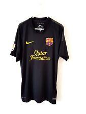 Barcelona Away Shirt 2011. Small Adults. Nike. Black Short Sleeves Football Top