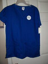 Nwt Bobbie Brooks Royal Blue Uniform Scrub Top Size Medium Top #6