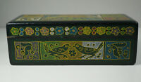 Vintage Box Painted Lacquered Balsa India? Hand Painted