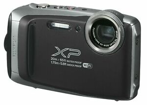 NEW! Fujifilm FinePix XP135 16.4MP Waterproof Digital Action Camera Dark Silver