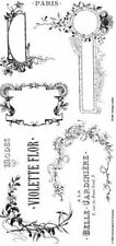 Stampington & Co Vintage Labels Cling Rubber Stamp Set Paris Victorian
