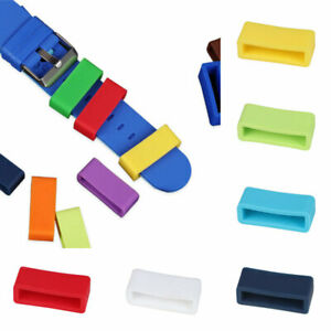 5Pcs 12mm-24mm Retainer Ring Silicone Loop Replacement Watch Strap Keeper