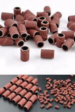 Yimart 100Pcs 180 Grit Nail Art Sanding Bands For Nail Drill Bits Machine Manicu