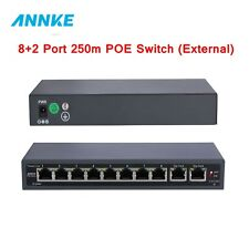 ANNKE NSW012 8-Port Gigabit Easy Smart PoE Switch with 2-Port UP Link 10/100mbps