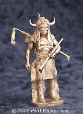 PERTH PEWTER SUPERIOR MODELS WA02 - SIOUX CHIEF - 90mm WHITE METAL KIT NUOVO