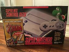 Super Nintendo SNES Console System Zelda Link To The Past Bundle New Collectible
