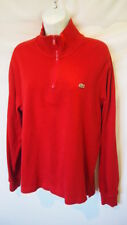 Lacoste Sweatshirt Size 4 Zip Up Mens Fashion Pullover Half Zip Red Logo