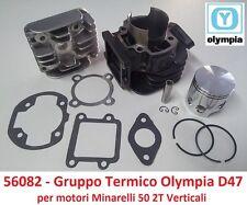 Gruppo Termico Cilindro + Pistone Olympia D 47 = 70cc per MBK Booster 50 2T