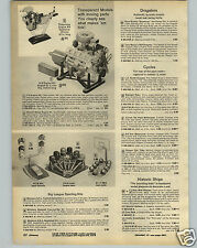 1972 PAPER AD Toy Play MLB NFL NBA Sporting Kits Team Logos Diamond Goal posts