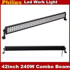 42in 240W Philips LED Work Light Bar Flood Spot Combo SUV 4WD Jeep Driving Lamp