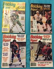 4 1982 VINTAGE HOCKEY DIGESTS,Orr to Gretzky,Bobby Smith,Bowman,Bruins,Canadiens