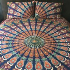 Indian Mandala PinkCity Special Queen Size Cotton Bed Sheet with 2 Pillow Cover