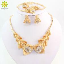 New Design Women Clear Rhinestone African Costume Dubai Wedding GP Jewelry Sets