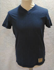 T-shirt blu ABERCROMBIE & FITCH scollo a V Muscle Small S 100% cotone